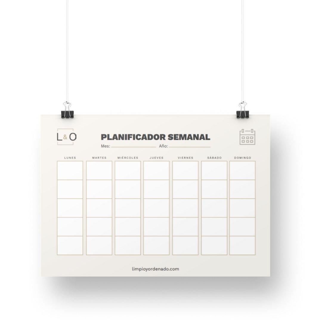 Limpio y ordenado - planificadores semanales